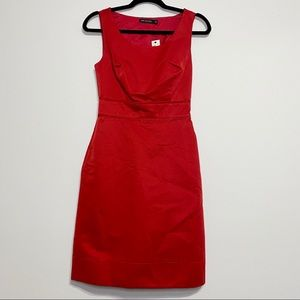 The Limited Red Sleeveless Dress with Pockets